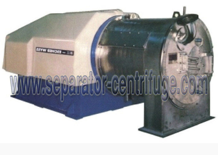 Two Stage Pusher Salt Centrifuge , Continuous Salt Dewatering Equipment / sodium chloride cenetrifuge